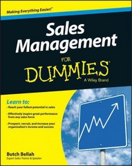 Sales Management For Dummies 1st Edition 9781119094227 1119094224