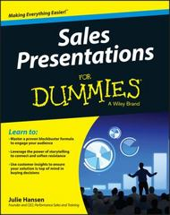 Sales Presentations For Dummies 1st Edition 9781119104025 1119104025