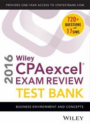 Wiley CPAexcel Exam Review 2016 Focus Notes 11th Edition 9781119120063 1119120063