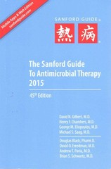 The Sanford Guide to Antimicrobial Therapy 2015 45th Edition 9781930808843 1930808844