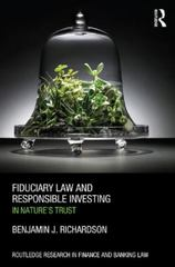 Fiduciary Law and Responsible Investing 1st Edition 9781138930100 1138930105