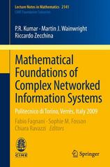 Mathematical Foundations of Complex Networked Information Systems 1st Edition 9783319169675 331916967X