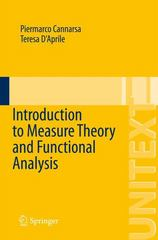 Introduction to Measure Theory and Functional Analysis 1st Edition 9783319170190 3319170198