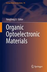 Organic Optoelectronic Materials 1st Edition 9783319168623 3319168622