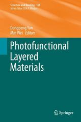 Photofunctional Layered Materials 1st Edition 9783319169910 3319169912