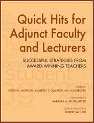 Quick Hits for Adjunct Faculty and Lecturers 1st Edition 9780253018342 025301834X