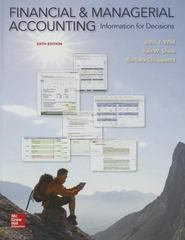 Financial and Managerial Accounting with Connect 6th Edition 9781259621758 1259621758