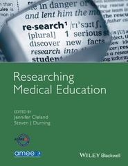 Researching Medical Education 1st Edition 9781118839201 111883920X