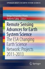 Remote Sensing Advances for Earth System Science 1st Edition 9783319169521 3319169521