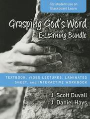 Grasping God's Word e-Learning Bundle 1st Edition 9780310522805 0310522803