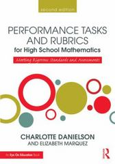 Performance Tasks and Rubrics for High School Mathematics 2nd Edition 9781138906990 1138906999