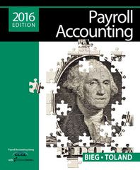 Payroll Accounting 2016 (with CengageNOW v2, 1 term Printed Access Card) 26th Edition 9781305665910 1305665910
