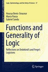 Functions and Generality of Logic 1st Edition 9783319171098 3319171097