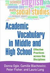 Academic Vocabulary in Middle and High School 1st Edition 9781462522590 1462522599