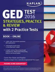 Kaplan GED Test 2016 Strategies, Practice, and Review 13th Edition 9781625233066 162523306X