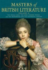 Masters of British Literature, Volume A 1st edition 9780321333995 0321333993