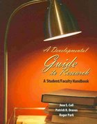 A Developmental Guide to Research 0 9780757548987 0757548989