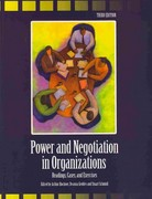 Power and Negotiation in Organizations 3rd Edition 9780757549236 0757549233