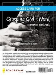 Access Card for Grasping God's Word Interactive Workbook 1st Edition 9780310523376 0310523370