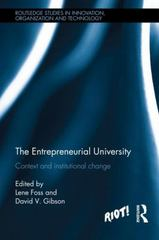 The Entrepreneurial University 1st Edition 9781138830776 1138830771