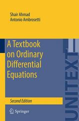 A Textbook on Ordinary Differential Equations 2nd Edition 9783319164076 3319164074