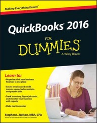 QuickBooks 2016 For Dummies 1st Edition 9781119126102 111912610X