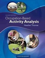 Occupation-Based Activity Analysis 2nd Edition 9781617119675 1617119679