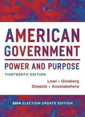 American Government 13th Edition 9780393264173 0393264173