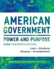 American Government 13th Edition 9780393264180 0393264181