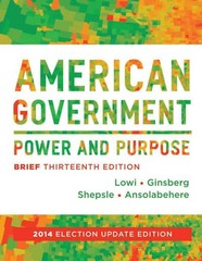 American Government 13th Edition 9780393264197 039326419X