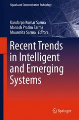 Recent Trends in Intelligent and Emerging Systems 1st Edition 9788132224068 813222406X