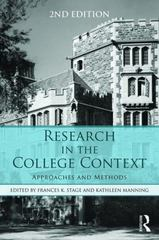 Research in the College Context 2nd Edition 9781138824782 113882478X