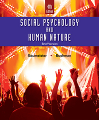 Social Psychology and Human Nature, Brief 4th Edition 9781305673540 1305673549