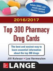 McGraw-Hill's 2016/2017 Top 300 Pharmacy Drug Cards 3rd Edition 9780071842358 0071842357