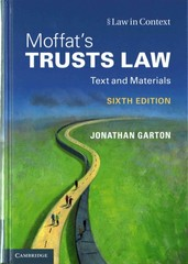 Moffat's Trusts Law 6th Edition 9781107105485 110710548X