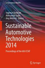 Sustainable Automotive Technologies 2014 1st Edition 9783319179988 3319179985