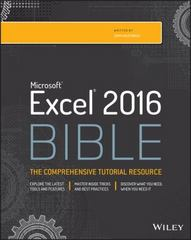 Excel 2016 Bible 1st Edition 9781119067511 1119067510
