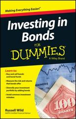 Investing in Bonds For Dummies 1st Edition 9781119121831 1119121833