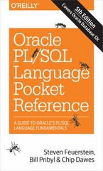 Oracle PL/SQL Language Pocket Reference 5th Edition 9781491920008 1491920009