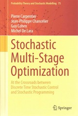 Stochastic Multi-Stage Optimization 1st Edition 9783319181387 3319181386