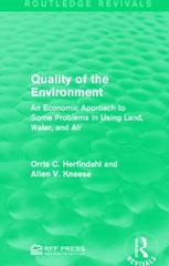 Quality of the Environment 1st Edition 9781317386667 1317386663