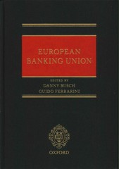European Banking Union 1st Edition 9780198727309 0198727305