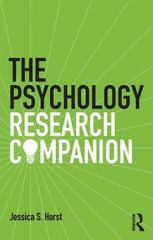The Psychology Research Companion 1st Edition 9781138785328 1138785326