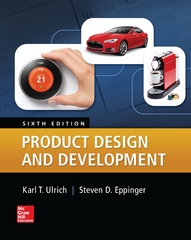 Product Design and Development 6th Edition 9780078029066 0078029066