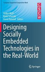 Designing Socially Embedded Technologies in the Real-World 1st Edition 9781447167204 1447167201