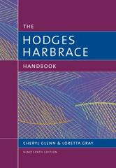 The Hodges Harbrace Handbook 19th Edition 9781305676442 1305676440