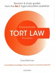 Tort Law Concentrate 3rd Edition 9780198729693 0198729693