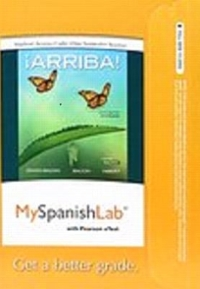 Textbook rental spanish online textbooks from chegg myspanishlab with pearson etext access card for arriba 6th edition 9780134053639 fandeluxe Gallery