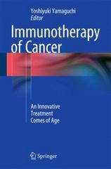 Immunotherapy of Cancer 1st Edition 9784431550310 4431550313
