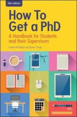 How to Get a PhD 6th Edition 9780335264124 0335264123